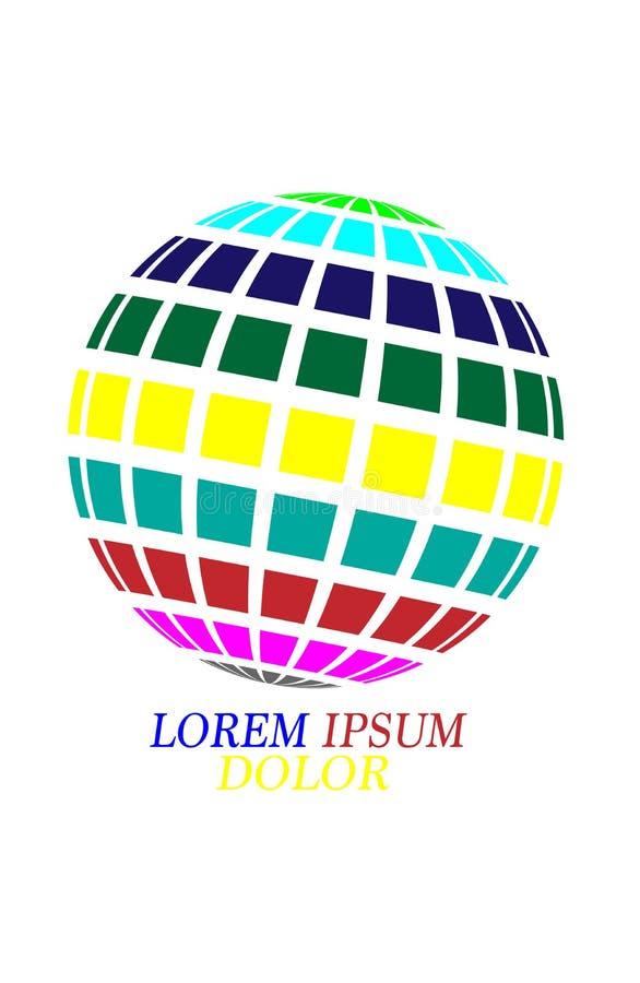 Globe type logo design Vector illustration EPS10. On white vector illustration