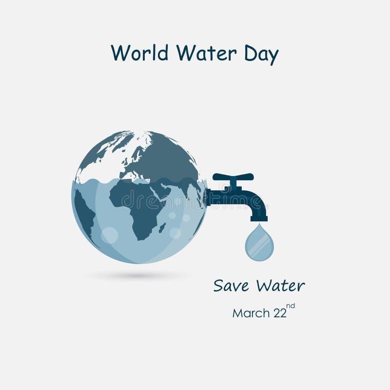 The Globe, vattendroppe och symbol för vattenklapp Mallen för design för logo för jordklotsymbolsvektor Symbol för världsvattenda vektor illustrationer