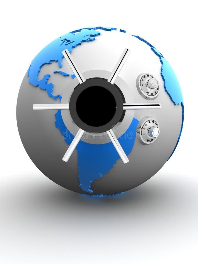 Globe vault vector illustration