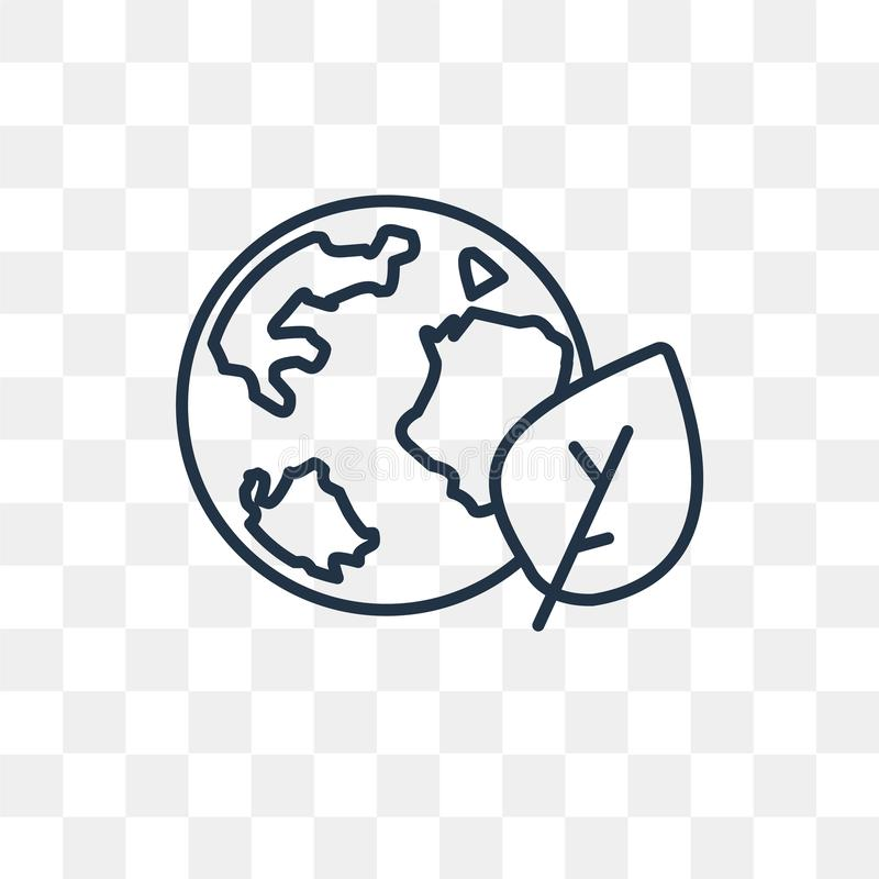 Globe vector icon isolated on transparent background, linear Globe transparency concept can be used web and mobile royalty free illustration