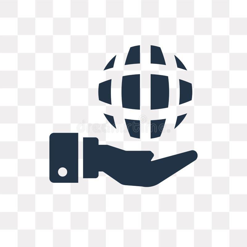 Globe vector icon isolated on transparent background, Globe tra royalty free illustration