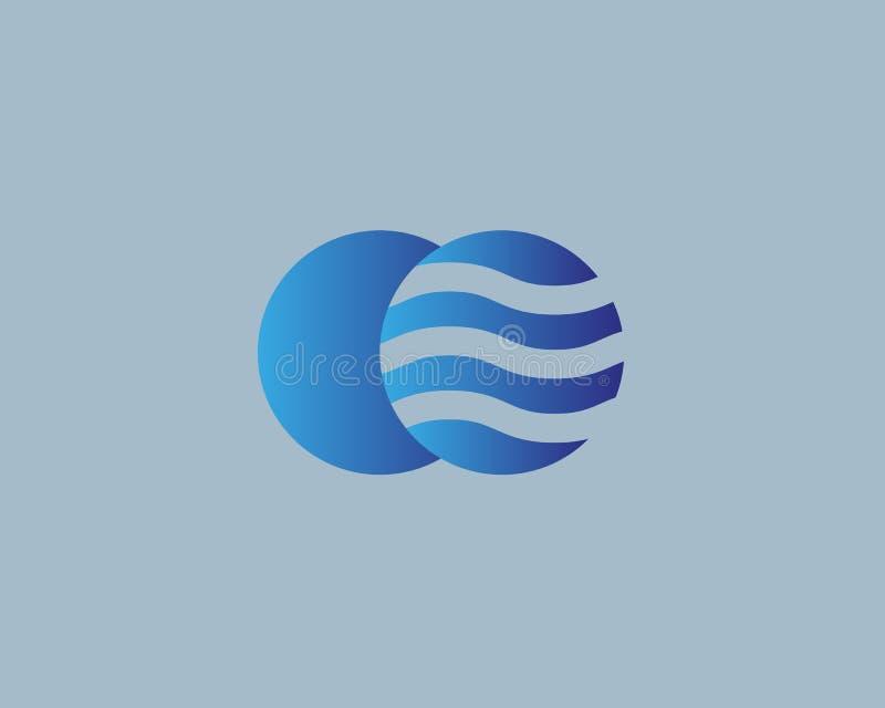 Globe vector logo. Earth wave logotype. 2 planet global symbol icon. royalty free illustration