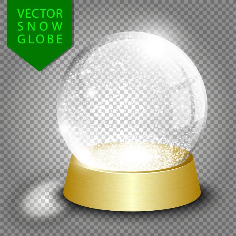 Globe vide de neige de Noël de vecteur illustration stock