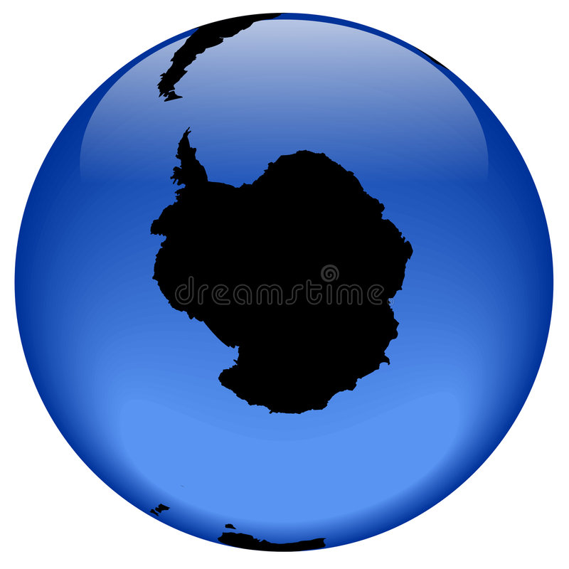 Globe view - Antarctica royalty free illustration