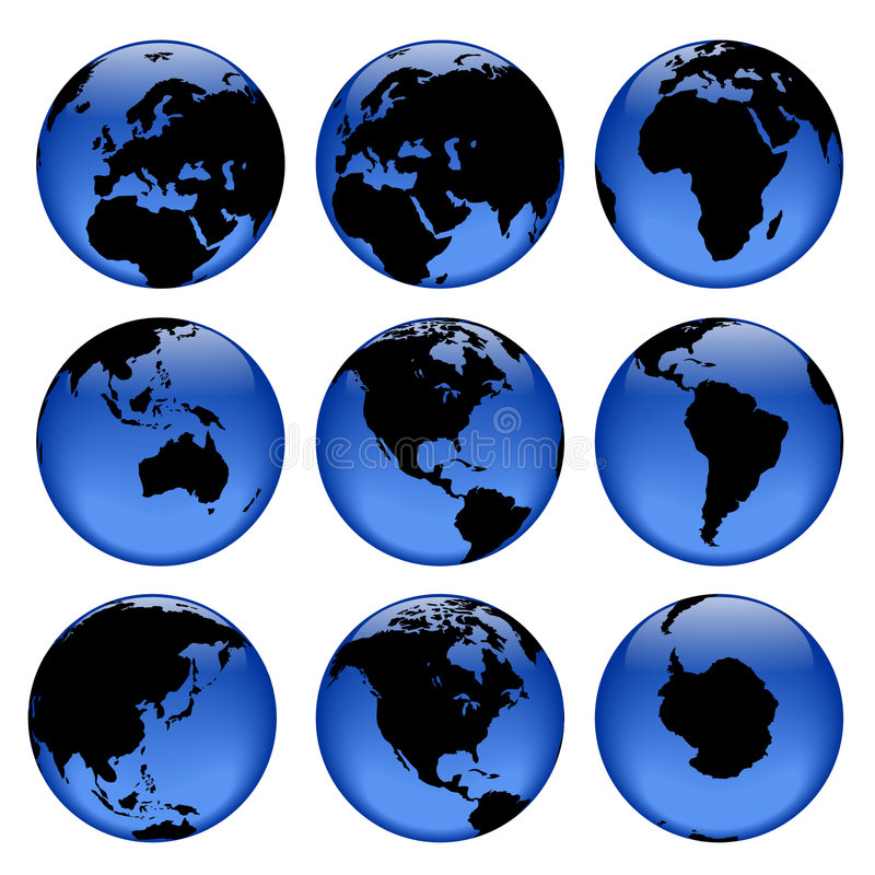 Globe views #2 vector illustration
