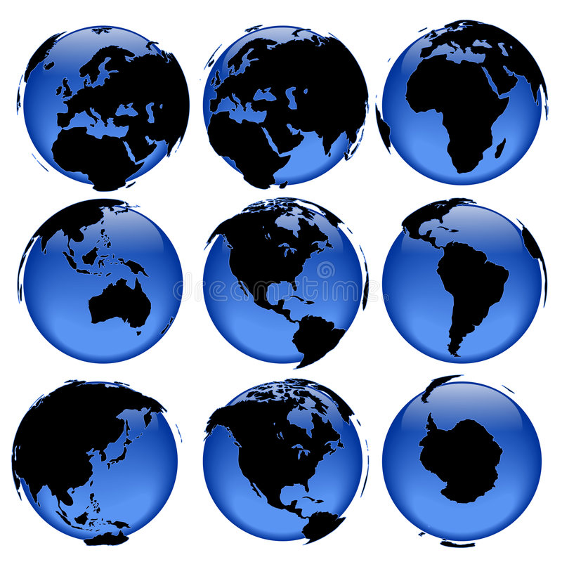 Globe views #4 vector illustration