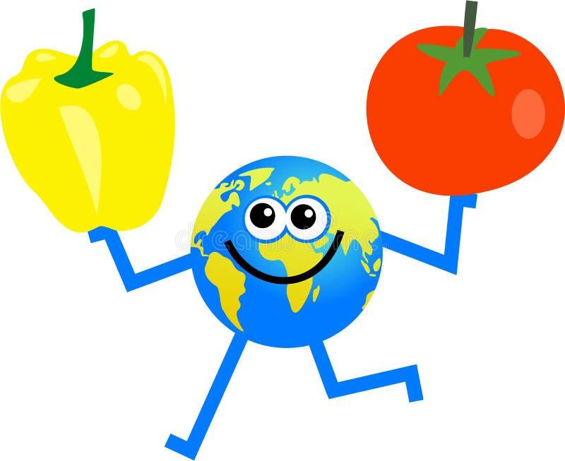 globe warzyw royalty ilustracja