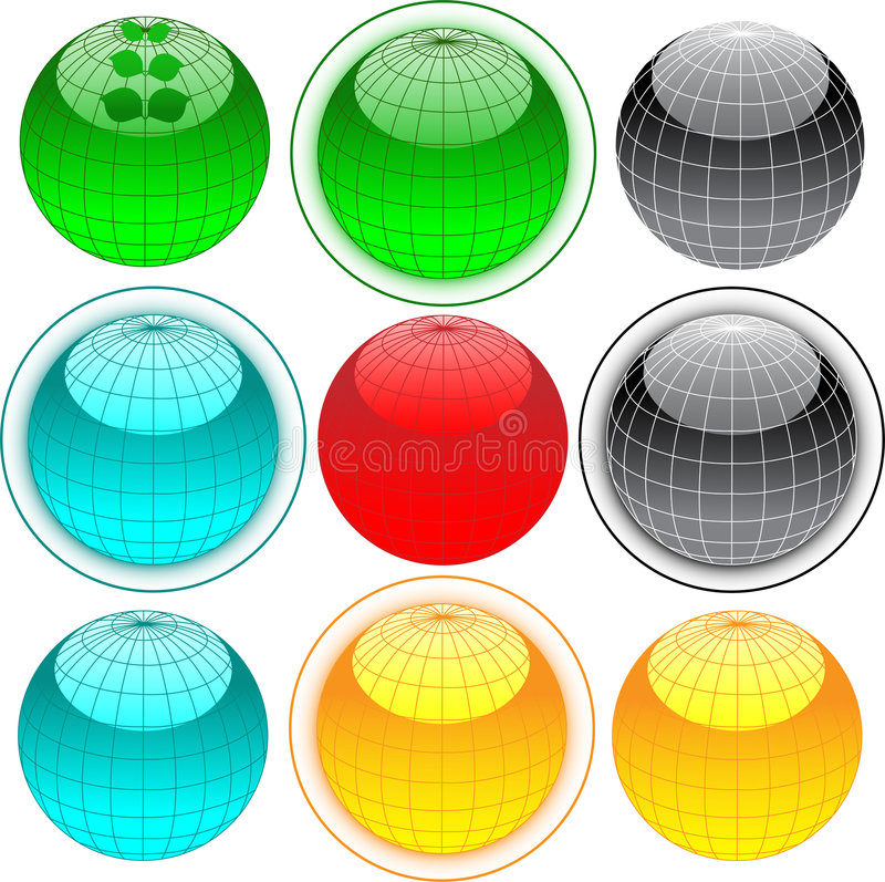 Download Globe web buttons stock vector. Image of liquid, drop - 7282378