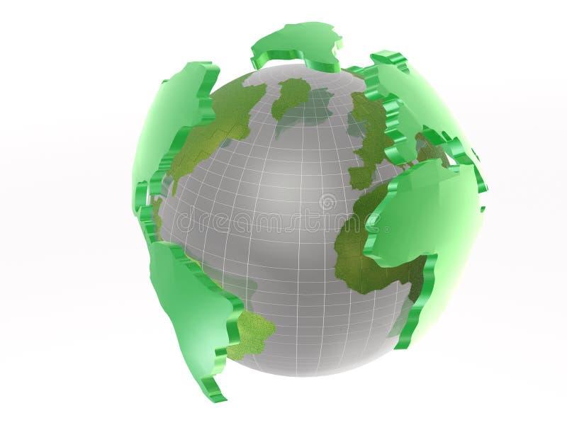 Globe On White Stock Images