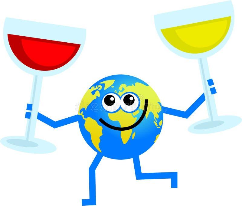 globe wino ilustracja wektor