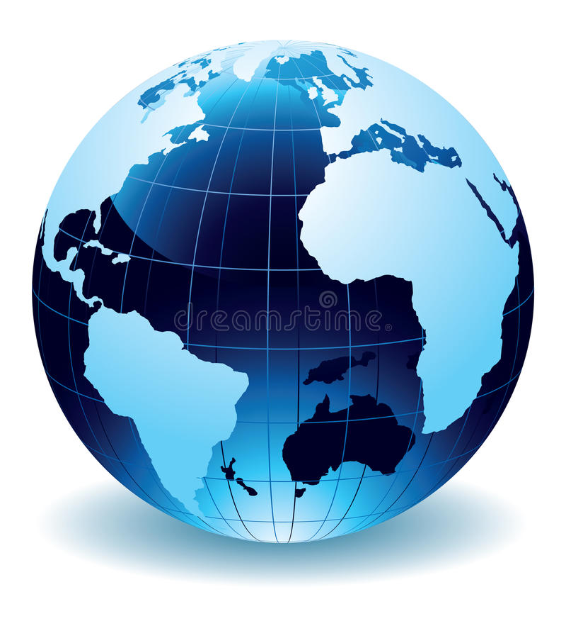 Globe of the World vector illustration