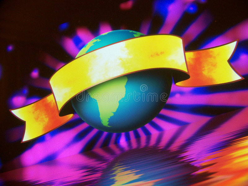 Globe World Banner stock photography