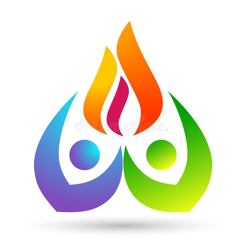 Free Globe World Fire Flame People Care Energy Logo Symbol Icon Nature Drops Elements Vector Design On White Background Stock Image - 150090591