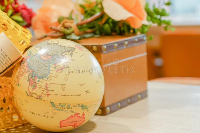Globe world map, explore destination travel concept royalty free stock photo