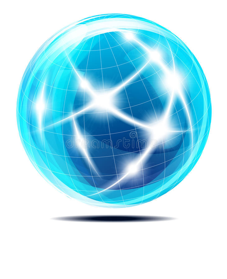 Download Globe World Sphere stock vector. Image of flowing, cable - 21994825