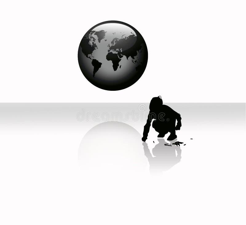 globe worldmap dziecko ilustracja wektor