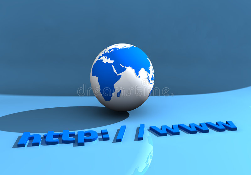 Globe and WWW 002 stock photography