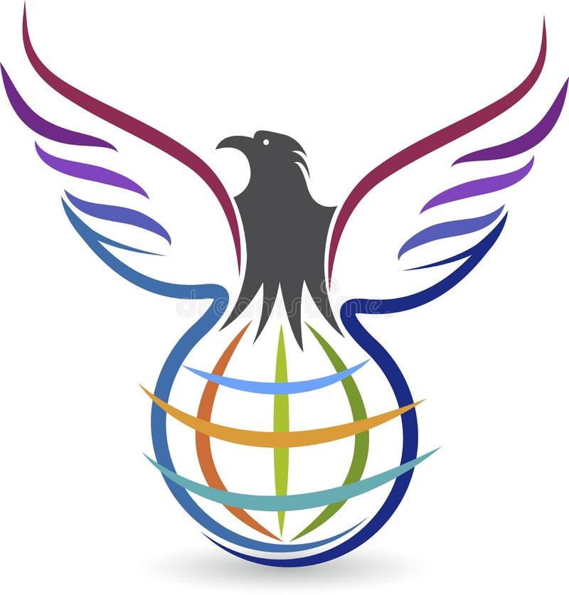 Globel-Adlerlogo lizenzfreie abbildung