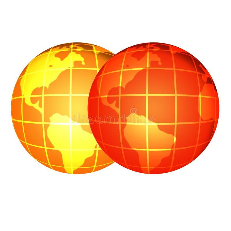Globes illustration de vecteur