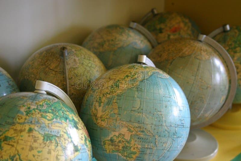 Globes royalty free stock photo