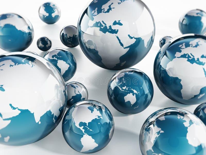 Download Globes ilustracji. Ilustracja złożonej z digitise, americas - 41955162