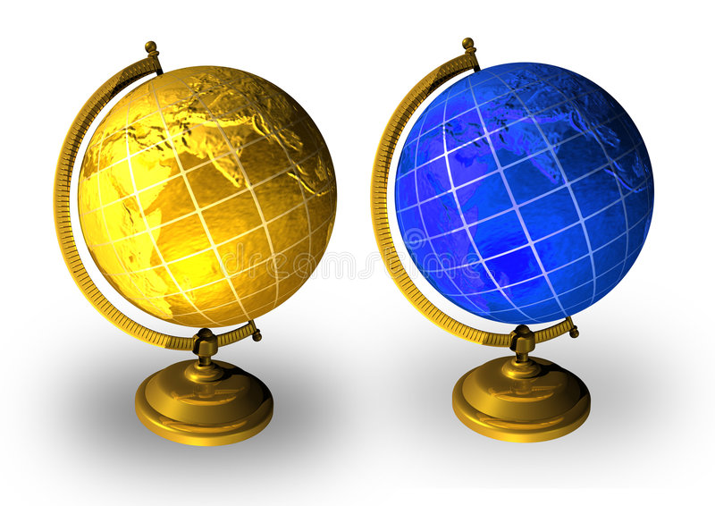 Download Globes stock illustration. Image of ball, continent, planet - 6133436