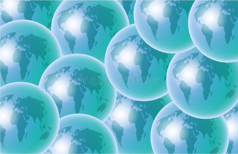 Globes illustration stock