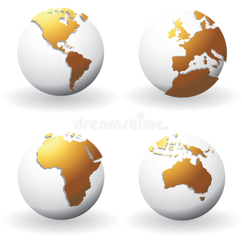 globes illustration libre de droits