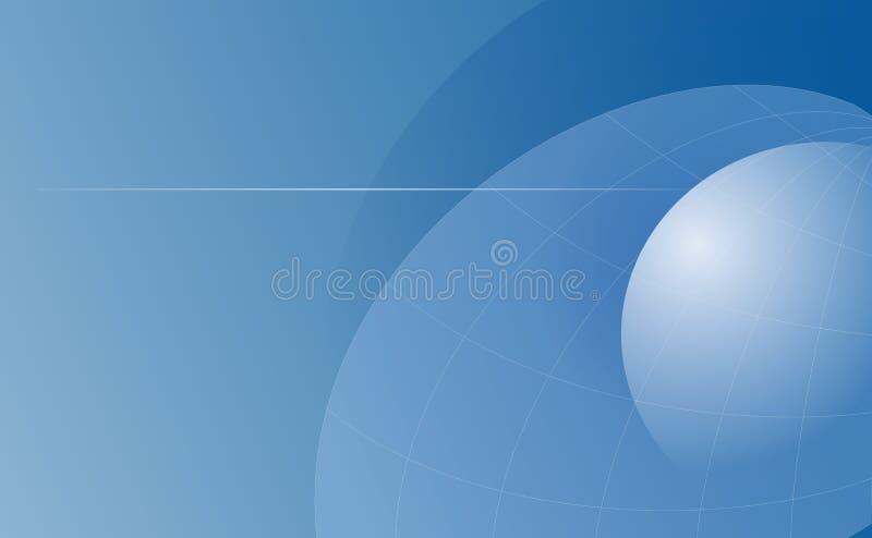 Globes bleus illustration libre de droits