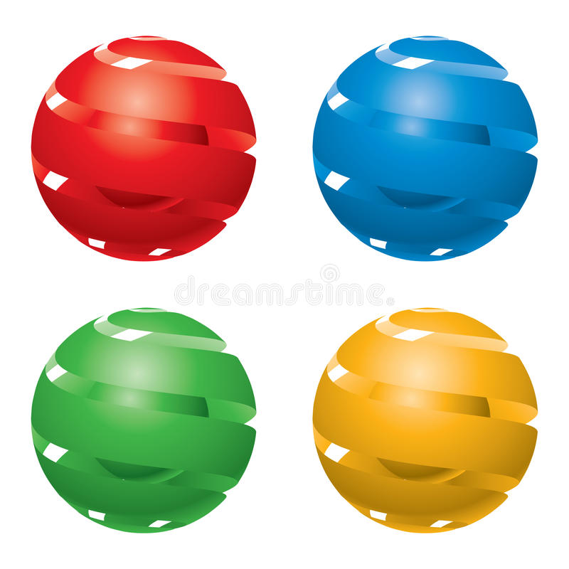 globes 3d illustration de vecteur
