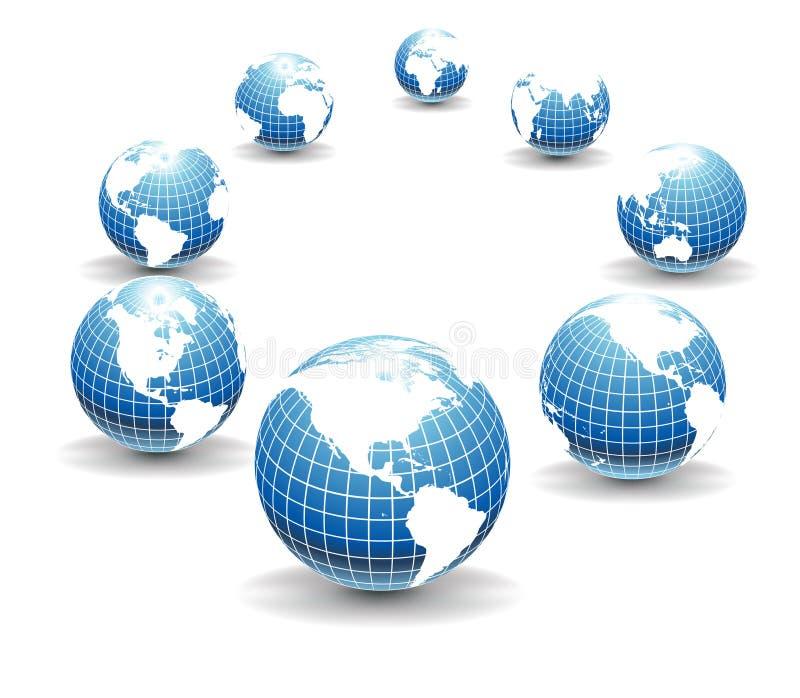 Globes de vecteur images stock