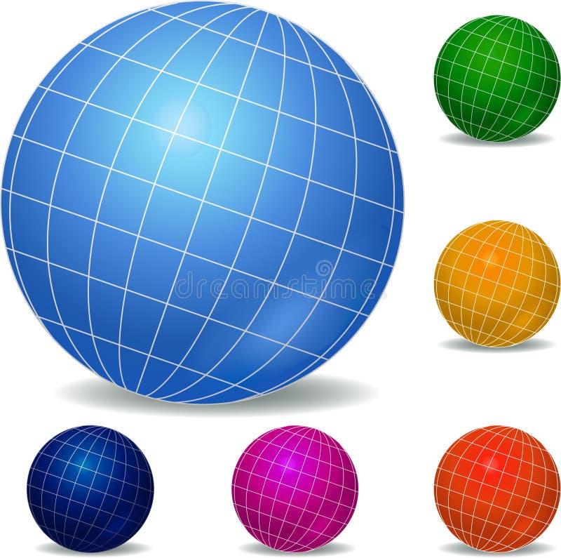 Globes icon set. Abstract art design illustration vector illustration