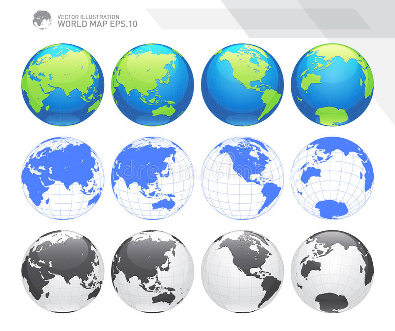 Globes showing earth with all continents digital world globe vector download globes showing earth with all continents digital world globe vector dotted world map gumiabroncs Gallery