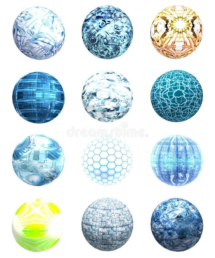 Globi immagine stock