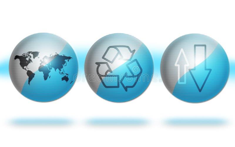 Globi dell'ambiente blu immagini stock