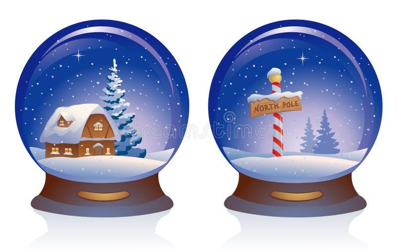 Globi della neve royalty illustrazione gratis