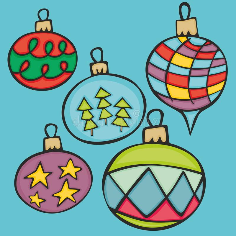 Globi di Natale illustrazione di stock