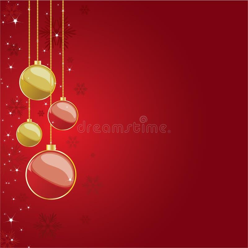 Download Globi Di Natale Su Priorità Bassa Rossa Illustrazione Vettoriale - Illustrazione di grafico, background: 7313419