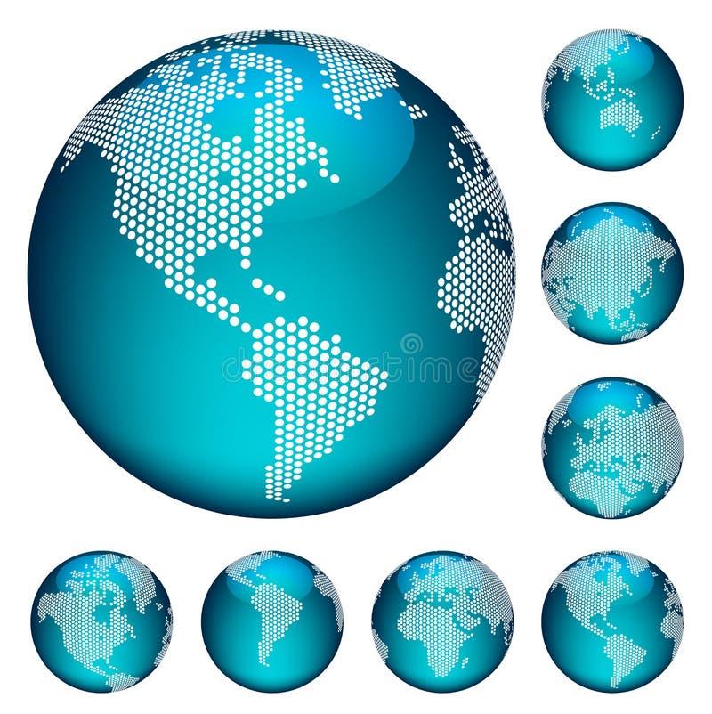 Globi punteggiati vettore royalty illustrazione gratis