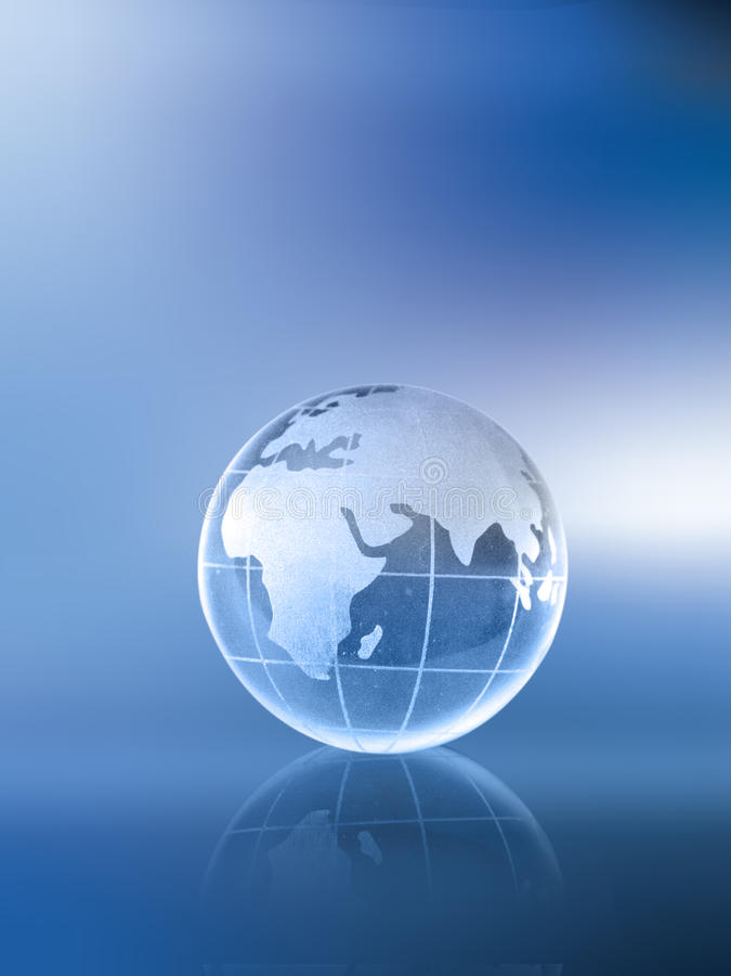 Globo-África Ásia e Europa imagem de stock royalty free