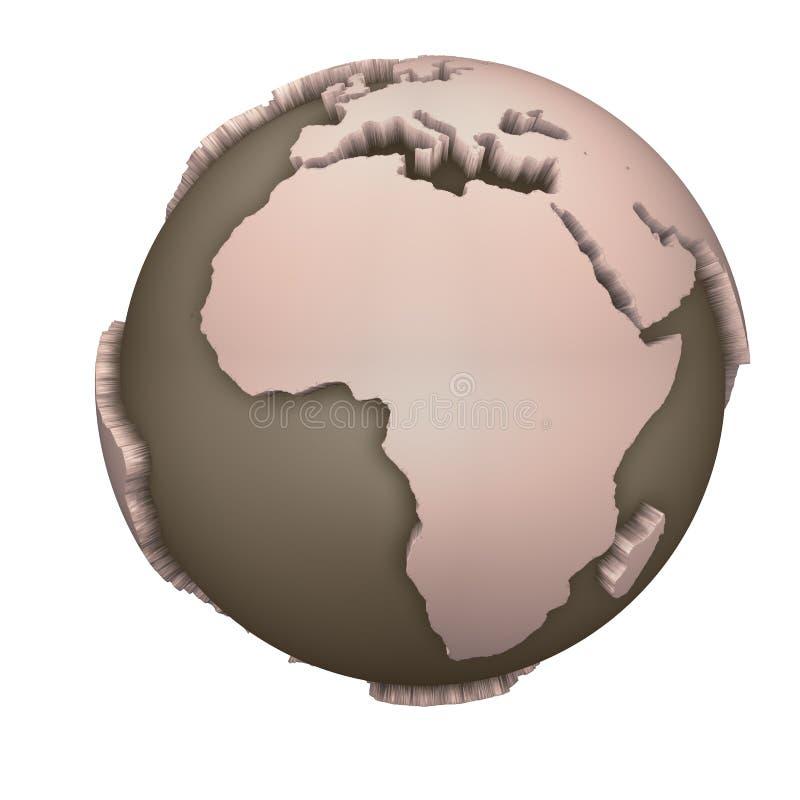 Globo África stock de ilustración
