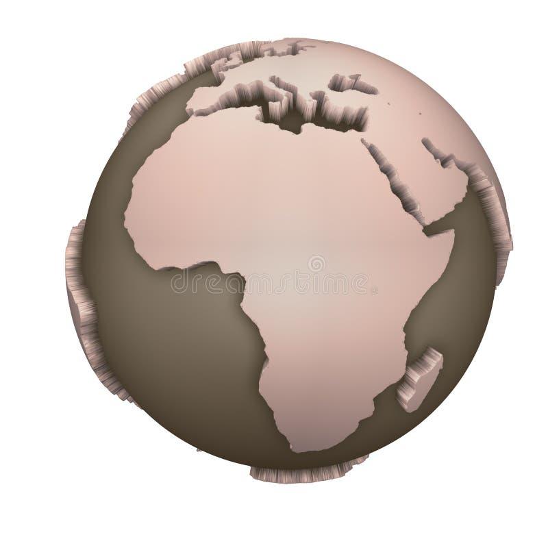 Globo África ilustração do vetor