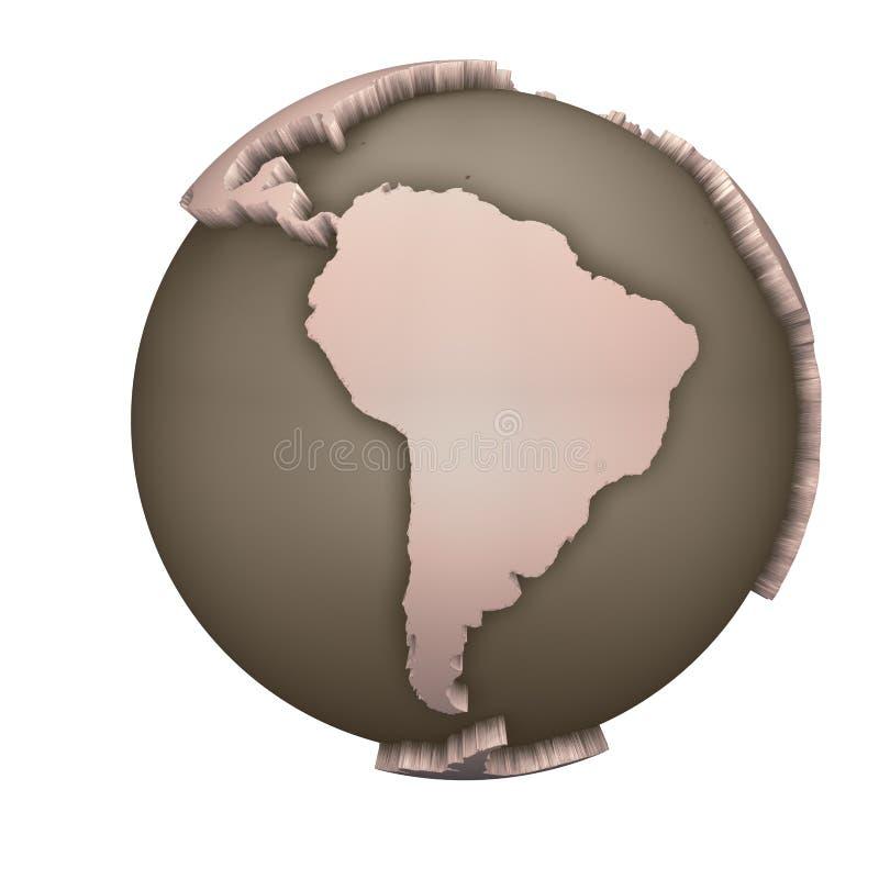 Globo Ámérica do Sul ilustração do vetor