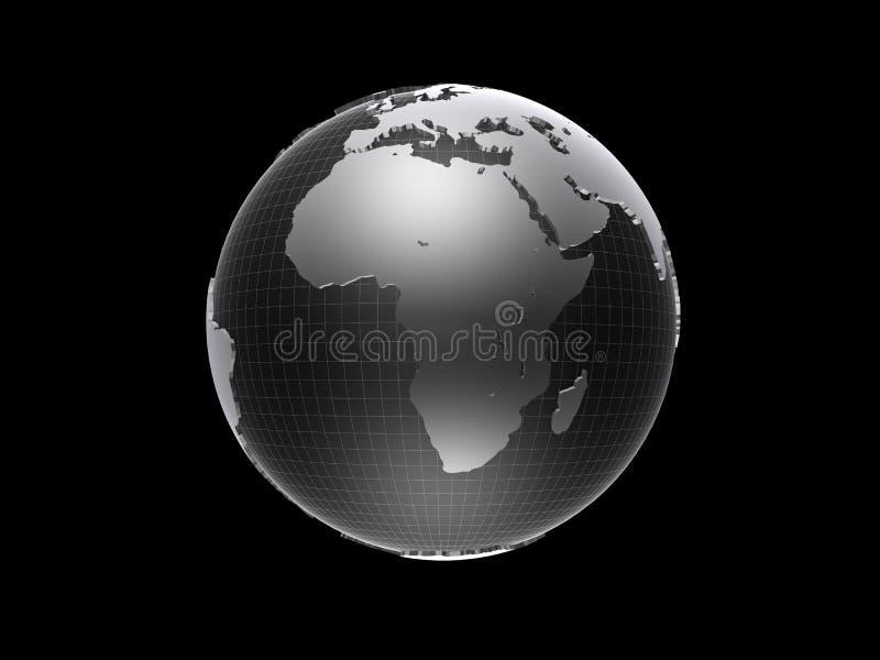 globo 3d ilustração do vetor