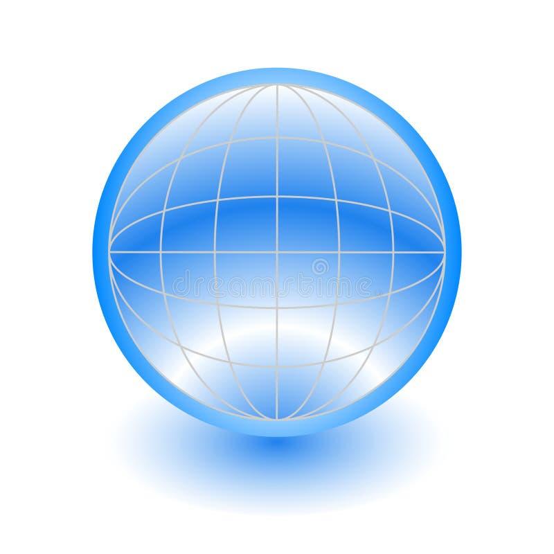 globo 3d azul abstrato ilustração royalty free