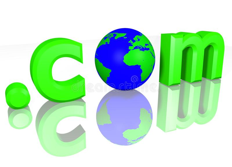 Download Globo 3D Com Verde De COM De Ponto Do Texto Ilustração Stock - Ilustração de conceito, texto: 12810285