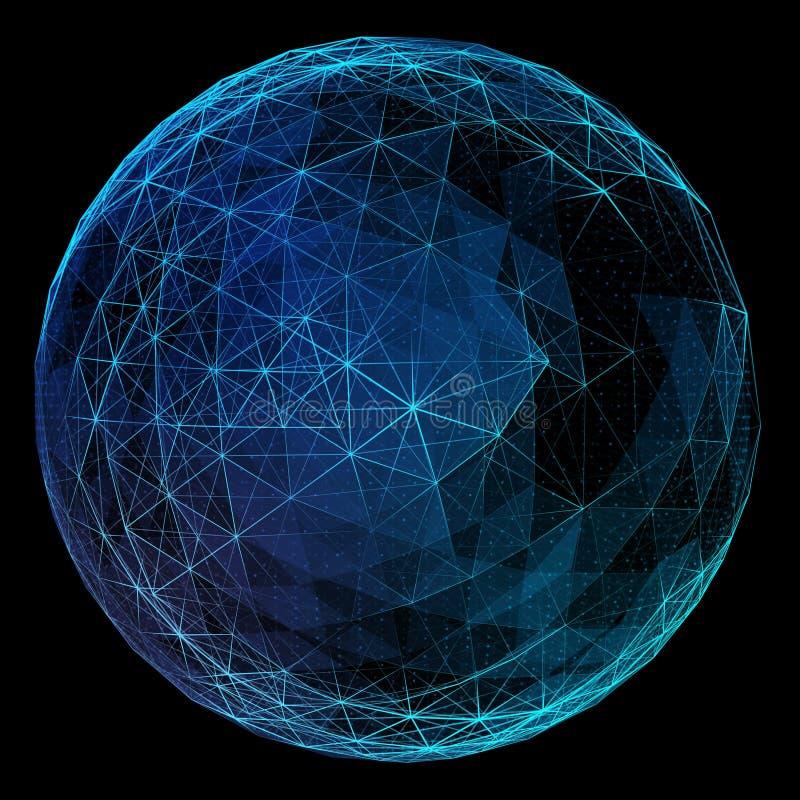 Globo abstracto de la red ilustración del vector