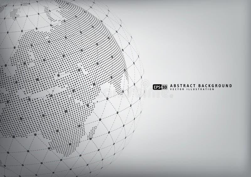 Globo abstracto de la tierra con el sphare del wireframe libre illustration