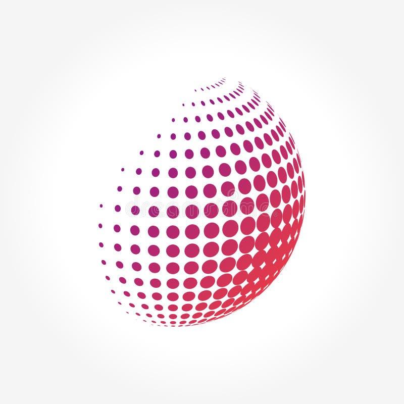 Globo abstracto, vibrante y colorido creativo de la esfera del icono libre illustration