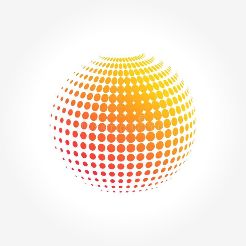 Globo abstracto, vibrante y colorido creativo de la esfera del icono ilustración del vector